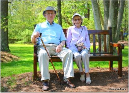 David and Grace enjoying old Corolla
