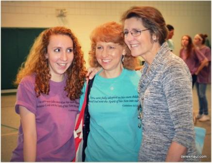 Karen and Linda Adkins with Rebekah