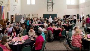 over 90 ladies at the tea