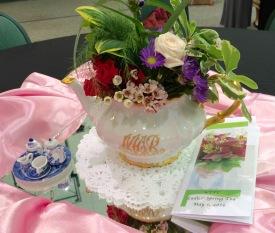 decorating detail (Rebekah's grandmother's hand-painted teapot)