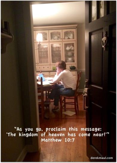 preparing the message