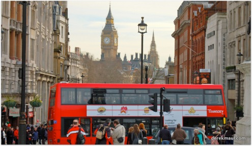 Trafalgar Square looking to Westminster