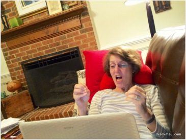 Rebekah on Skype with the grands
