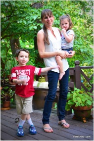 Our beautiful daughter, Naomi, with her children