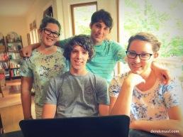 Sarah, Jared, Seth, and Jordan