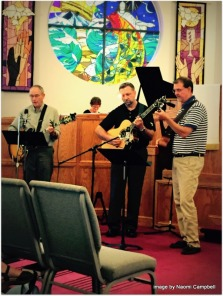 with Dan and Tim at Traditional Worship
