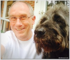 with Scout Labradoodle