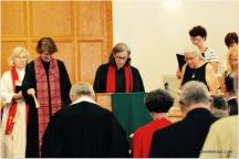 Rev Cherrie Henry Efland Presbyterian) prays