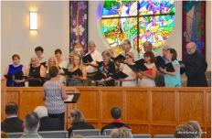 Kim Classcock leads the choir