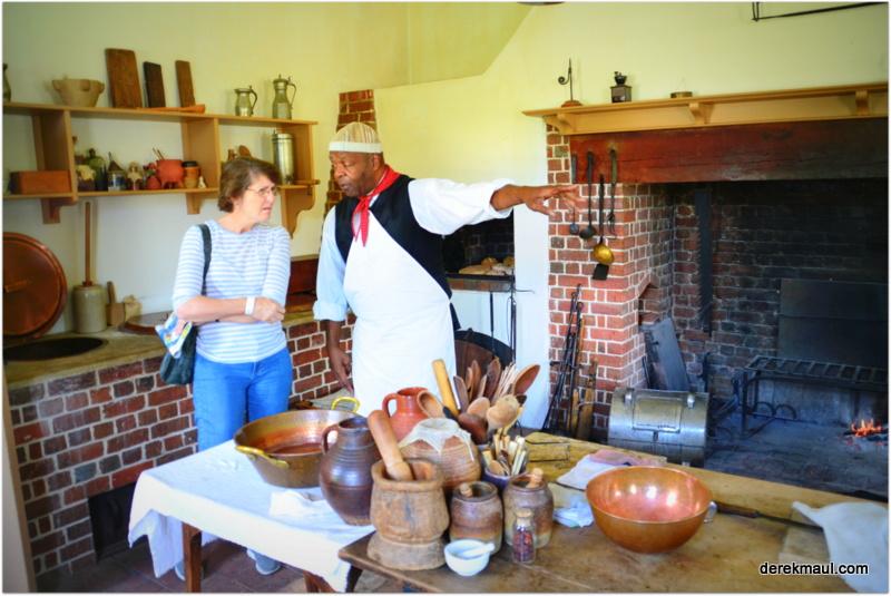 Rebekah in the main kitchen