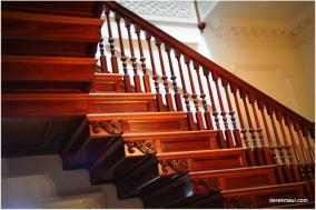 mahogany stairway