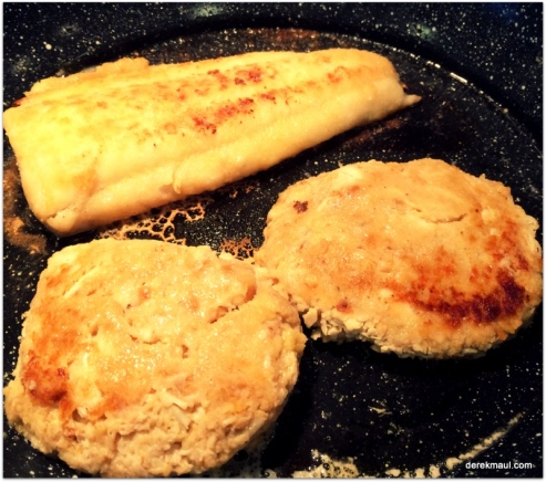Grouper and crab-cakes
