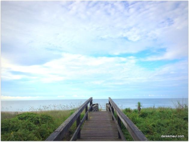 7:15 am on the boardwalk