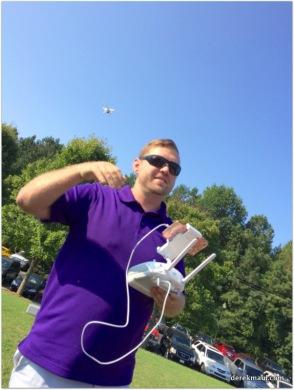 Luke Reynolds talking about the drone