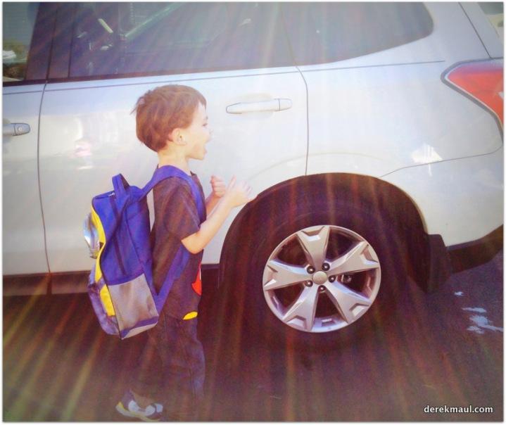 heading off to school