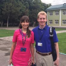 Andrew and Alicia at Tashkent International School
