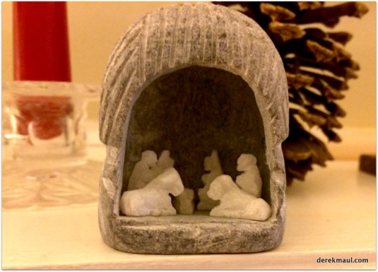 nativity at my parents' home