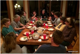 almost everyone made our first dinner together