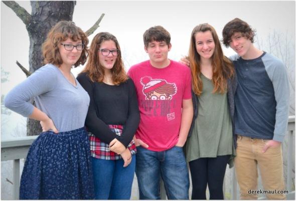 the younger five cousins - Jordan, Sarah, Seth, Lindsay, Jared