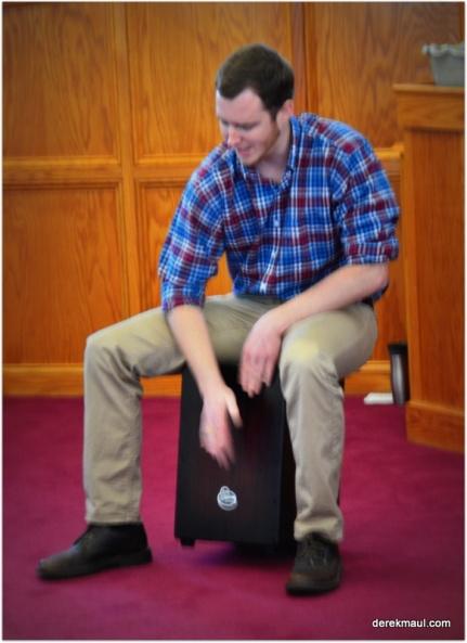 pastor John on drums