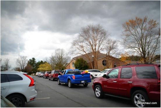 post church traffic jam