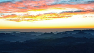 sunrise from Sinai
