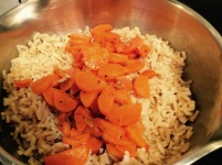 brown rice and carrots