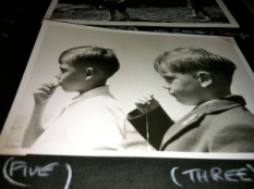with my brother, Geoff, in 1959
