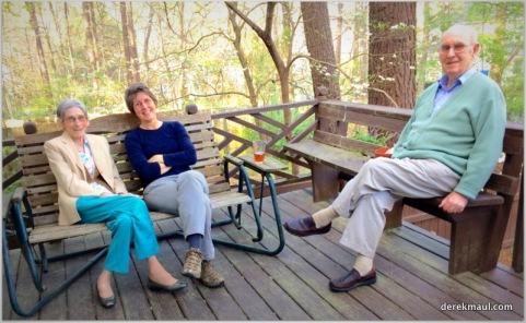 Rebekah with my parents, Grace and David
