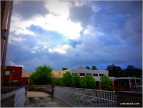 a stormy day at Wake Med