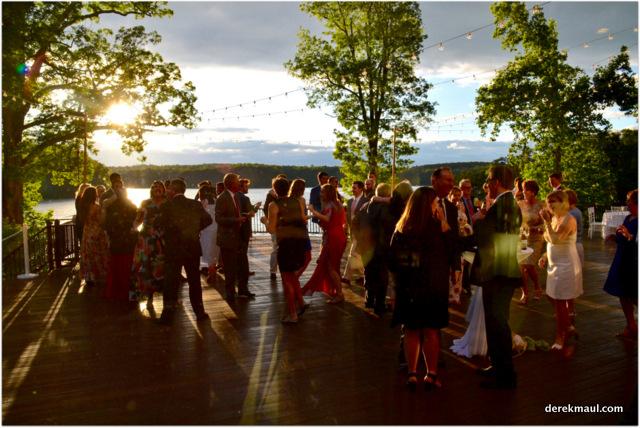 dancing at sunset