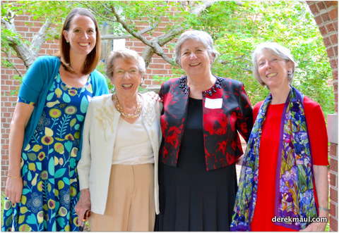 Wake Forest members with Loretta Highfield