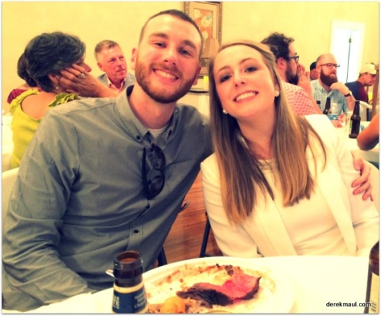 Kaitlyn and Jacob at the dinner