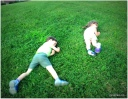 rolling down the grassy hill by the CLC