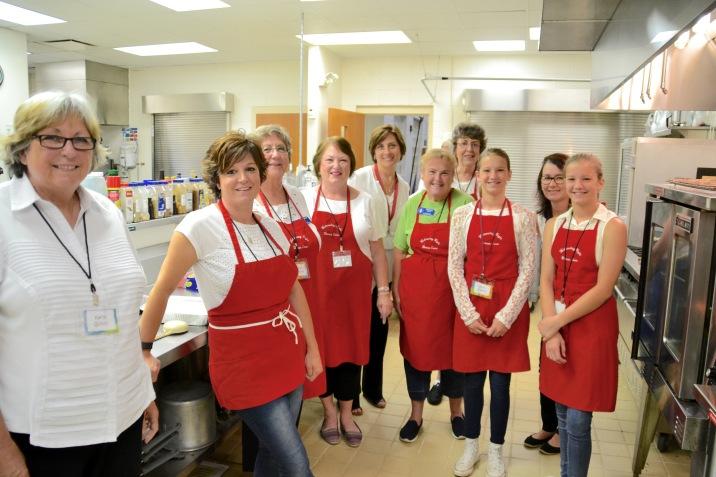 some of Mandy's amazing kitchen crew