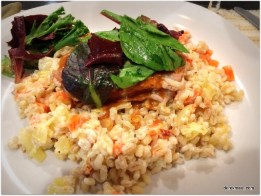 pork chops with barley and more awesomeness (me)