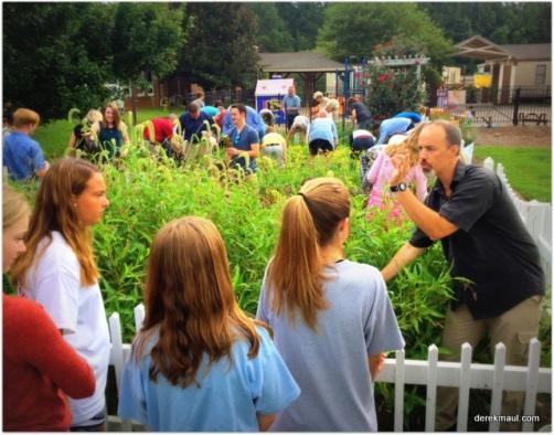 Allen Brimer instructs WFPC youth