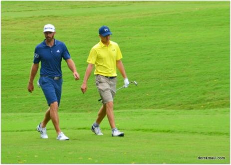 Dustin Johnson and Jordan Speith