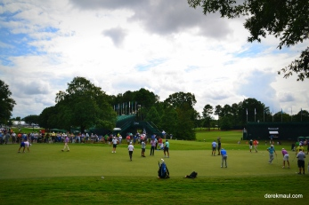 they all head to the putting green after the round