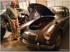 Harold showing off his car