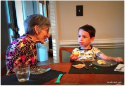 David talking with great-grandma Grace