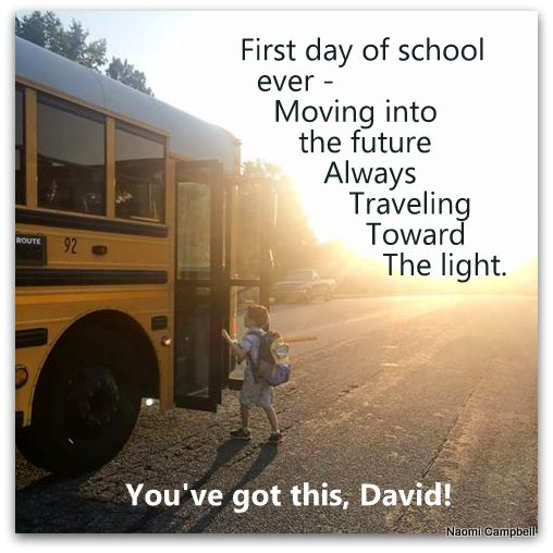 first day of school – hope andpromise