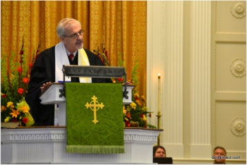 Ted Churn preaches