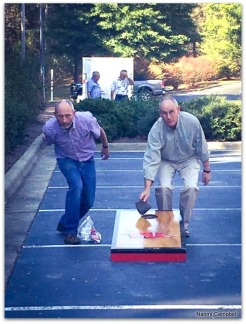 Peter and me - corn-hole - very intense!