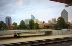 Raleigh skyline from Amtrack station