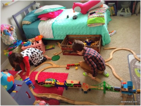 building a train layout together