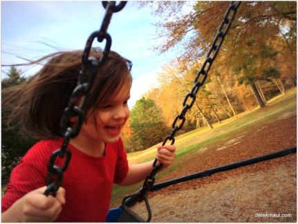 Beks loves to swing!