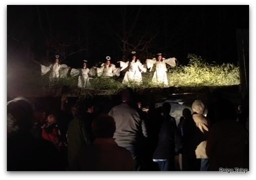 angels over the nativity