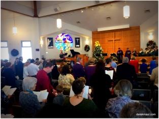 led by the choir