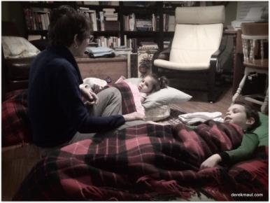 Rebekah telling goodnight stories